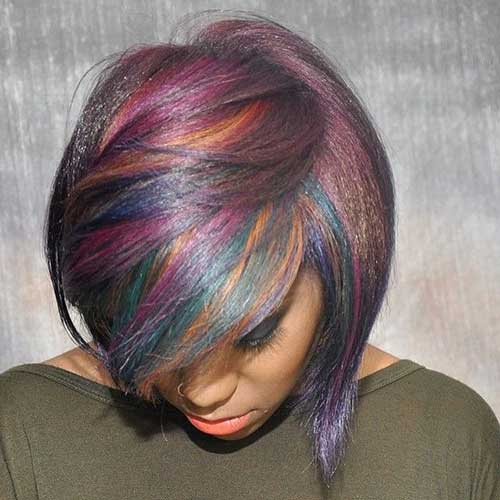 Funky-Short-Colored-Hair