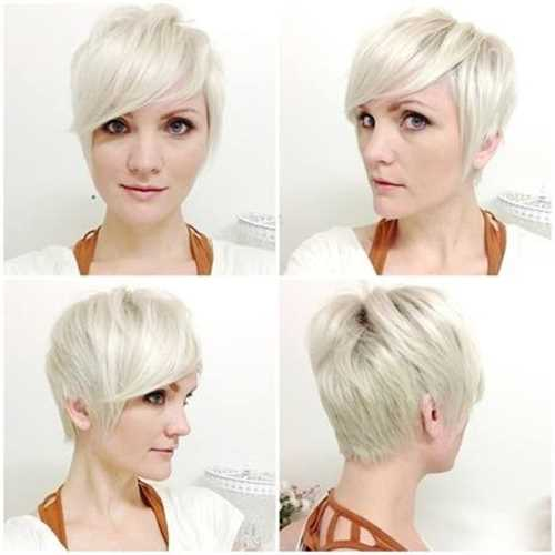 Light-Blonde-Short-Haircuts-for-Side-Bangs-Side-Front-and-Back-View