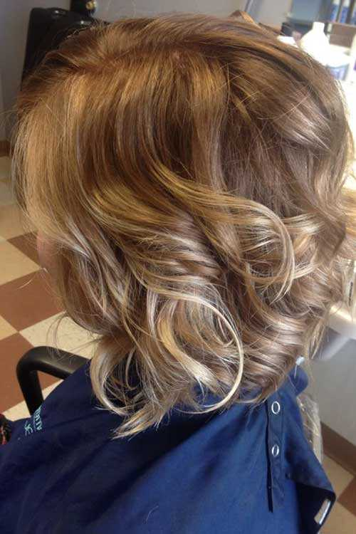 capelli medi ombre hair Ombre-Curly-Short-Hair-Blonde