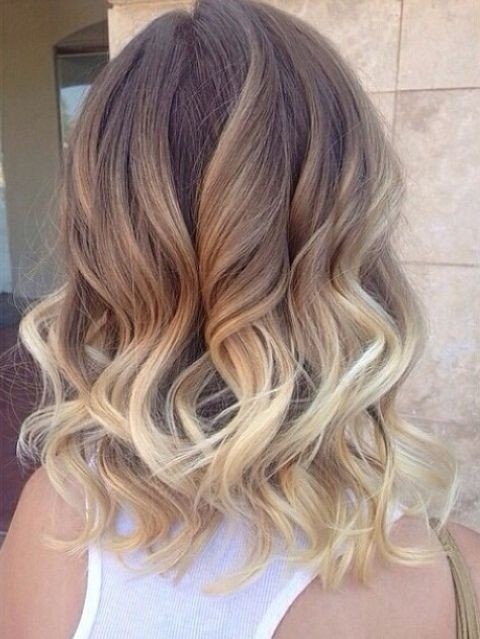 Ombre-Curly-Wavy-Hairstyle