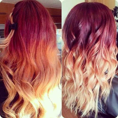 Red-Blonde-Ombre-HairstylesColors