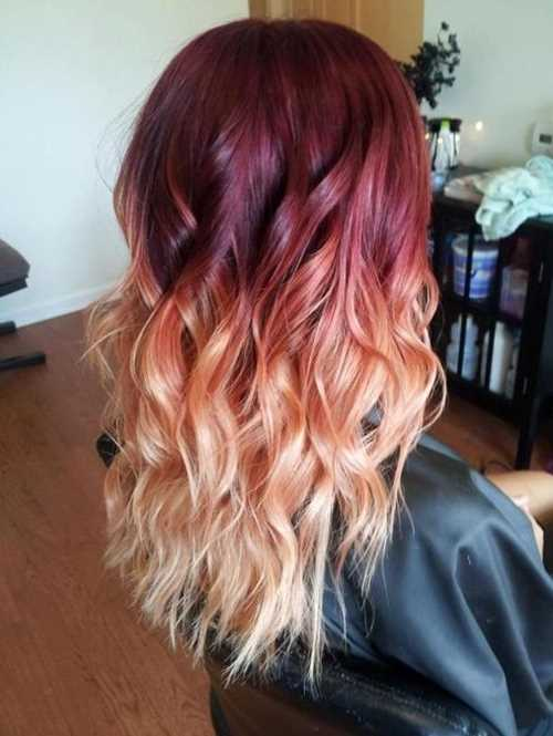 Red-to-Blonde-Ombre-Hair-Style