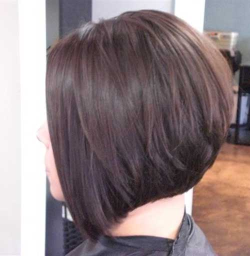 short haircuts from the back view 30 bob corti visti da dietro 5236 | Short Angled Dark Bob Haircuts Back View