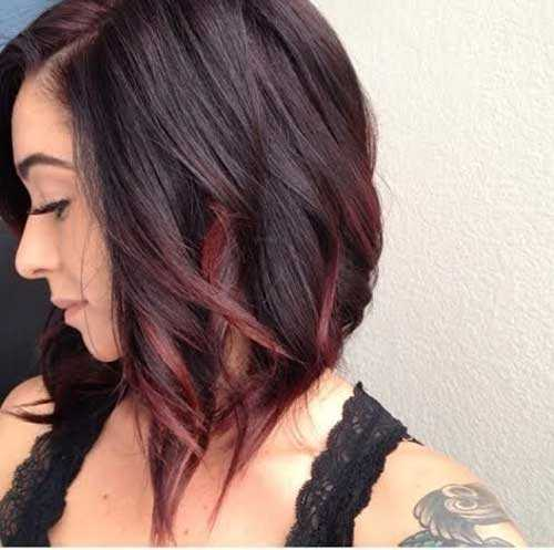 bob colorato Short-Hair-Dark-Blondie-Red-Ombre