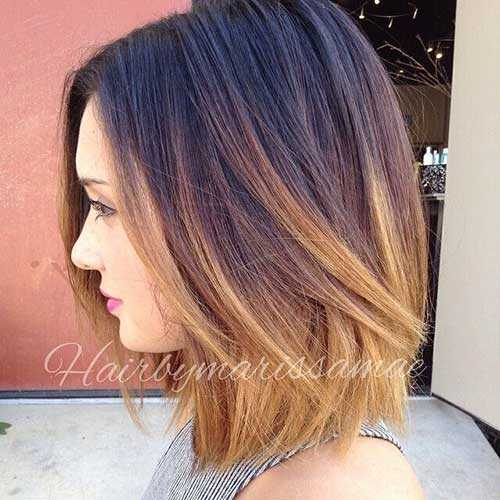 Short-Straight-Hair-Brown-and-Blonde-Ombre