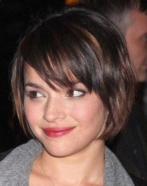 Side-Swept-Bangs-Bob-Haircut-for-Mid-lenth-Ombre-Hair
