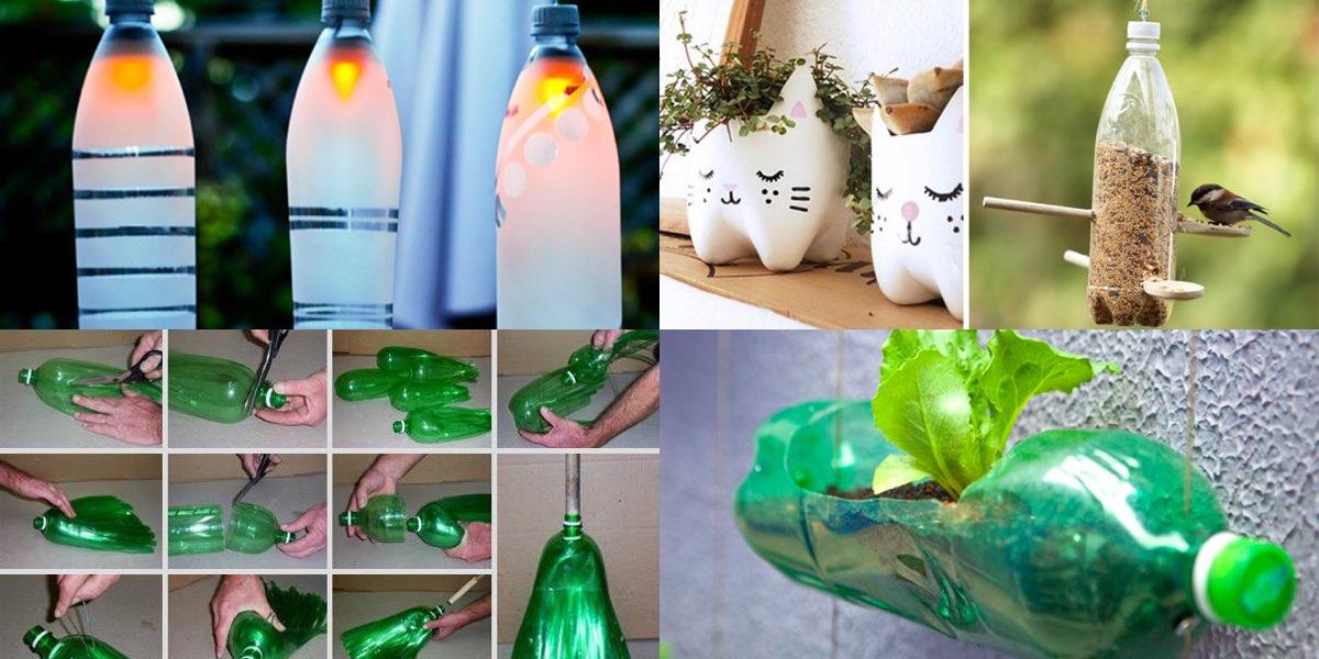 Super 10 modi divertenti per riciclare le bottiglie di plastica! UZ36