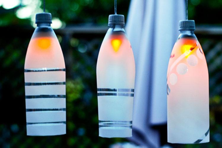Lampade Bottiglie Plastica: Paint your life lampade bottiglia.