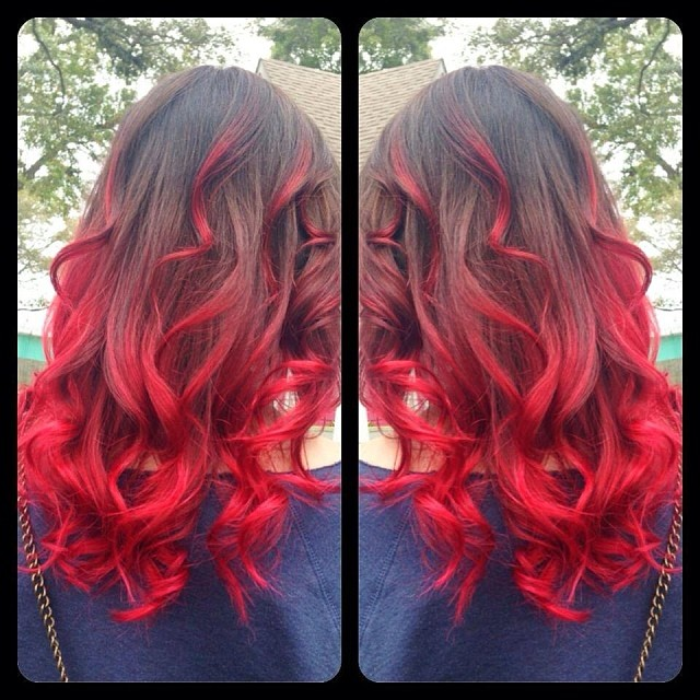 brown-and-red-ombre