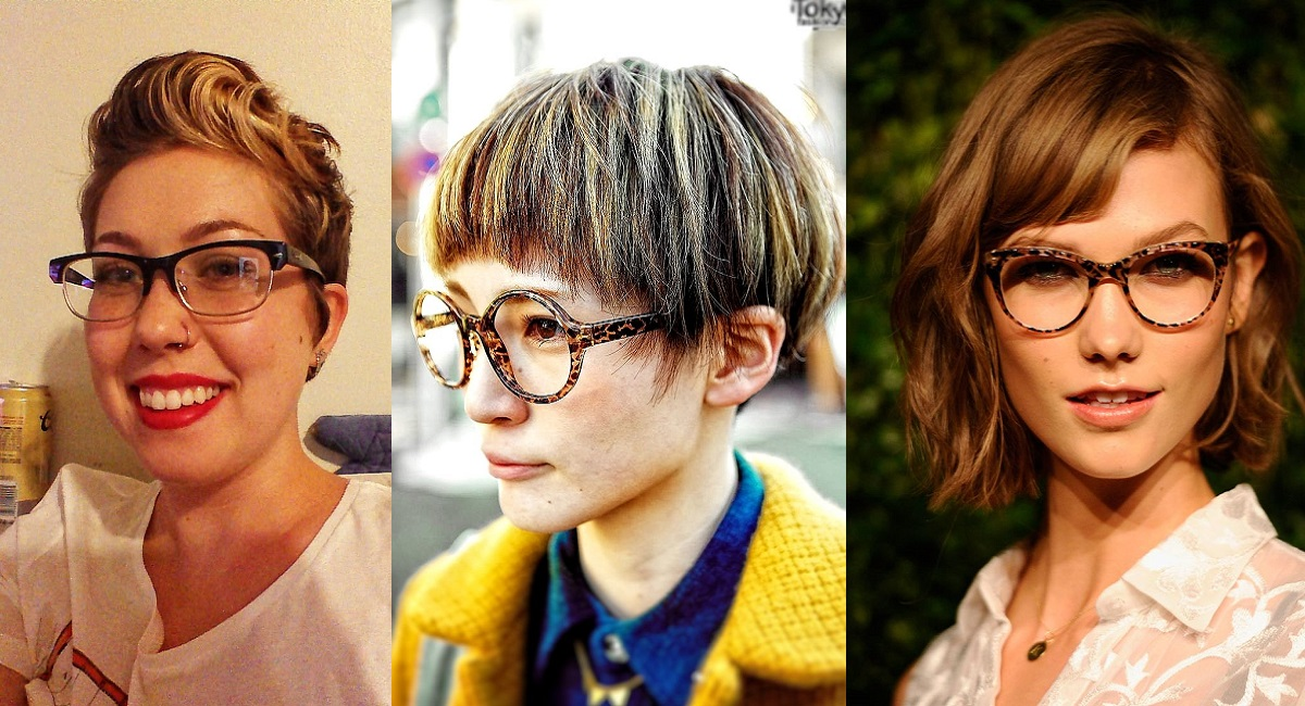 Capelli corti e occhiali: un mix vincente?
