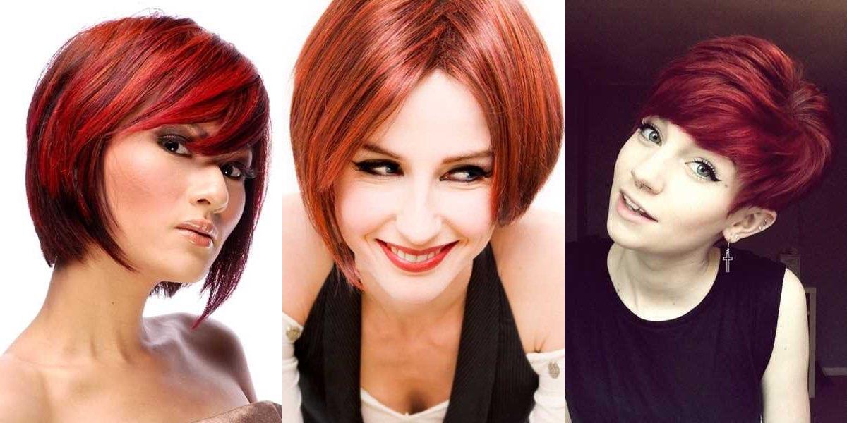 Taglio capelli corti rossi