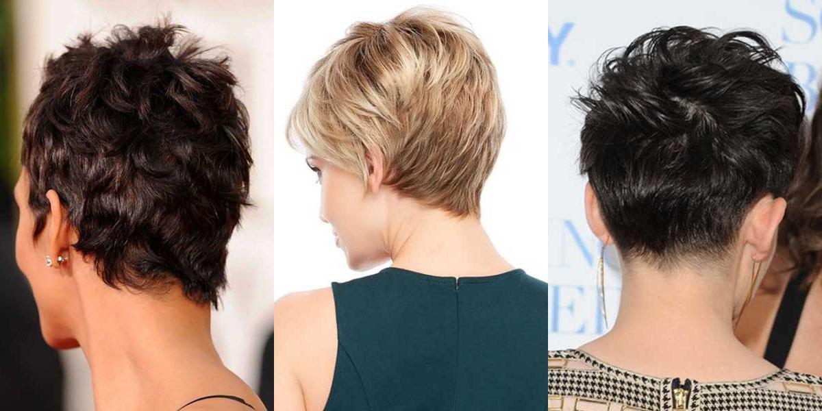 Taglio capelli medio corti visti da dietro