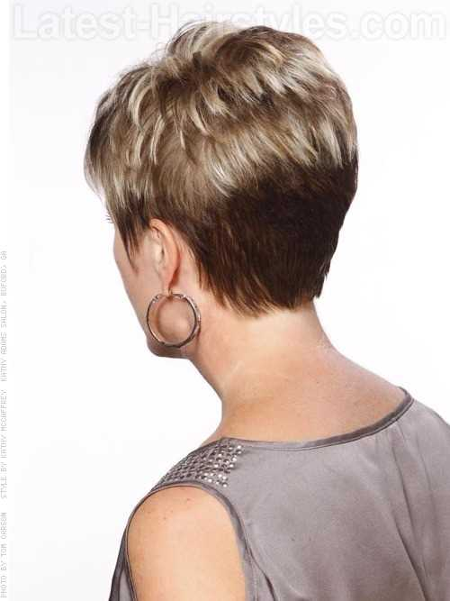 short haircuts from the back view tagli cortissimi visti da dietro il look a 360 gradi 5236 | perfect pixie blonde highlighted short cut back view