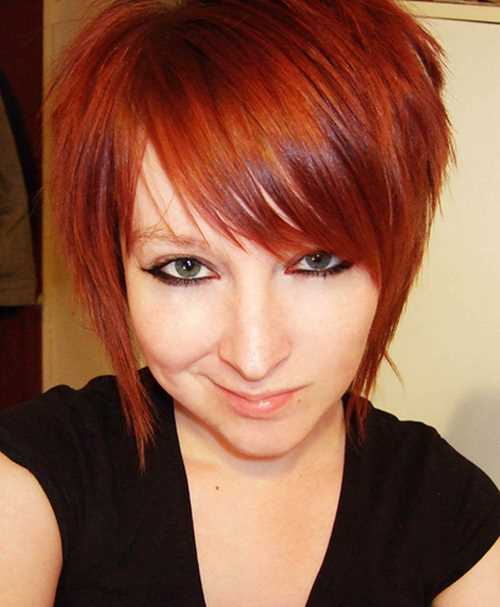 short-hairstyle-with-red-hair-color