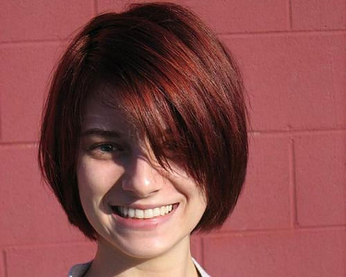 short-red-hairstyle