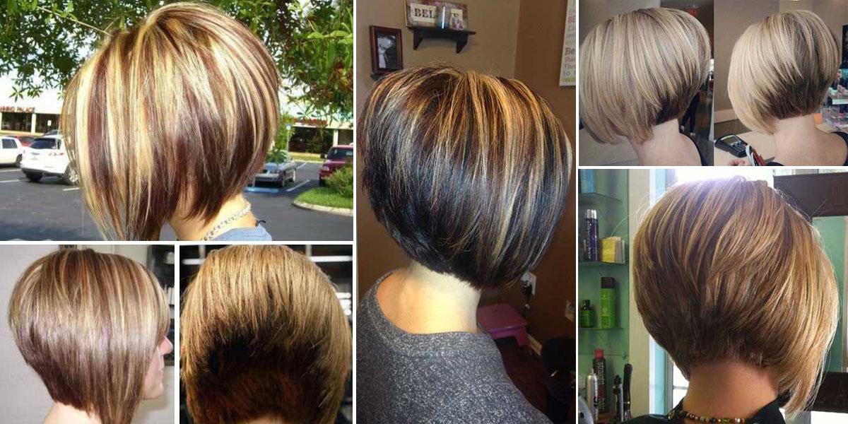 Tagli di capelli caschetto corto dietro lungo davanti