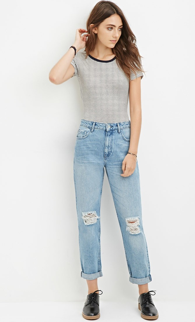 Distressed-Boyfriend-Jeans Distressed-Boyfriend-Jeans