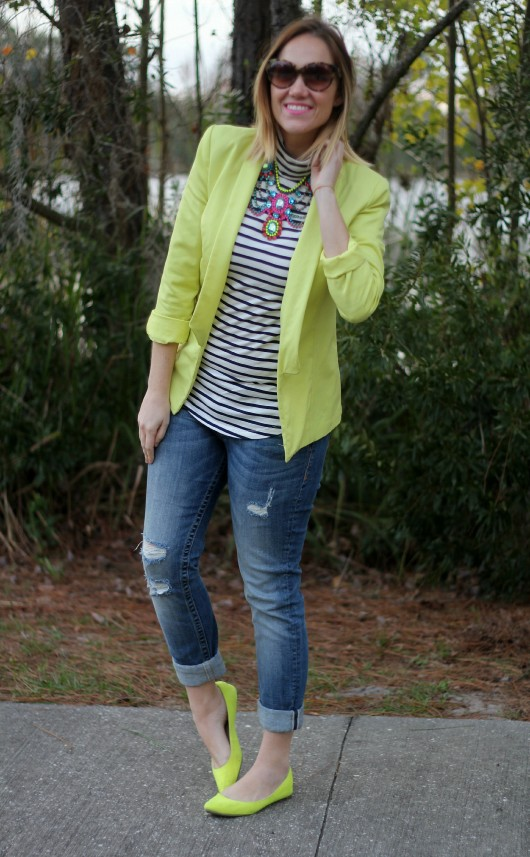 how-to-wear-a-neon-blazer