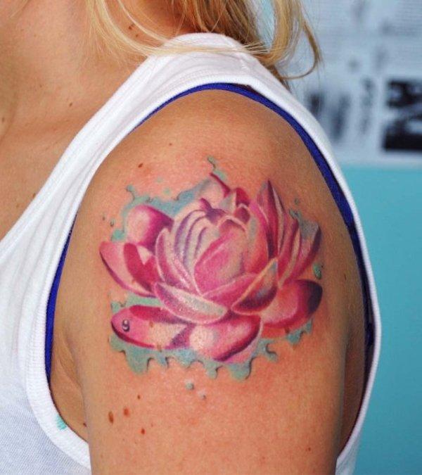 Eccezionale Tatuaggi fiori di loto: origine, significati e foto MX78