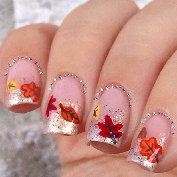35-sparkly-fall-nail-tips