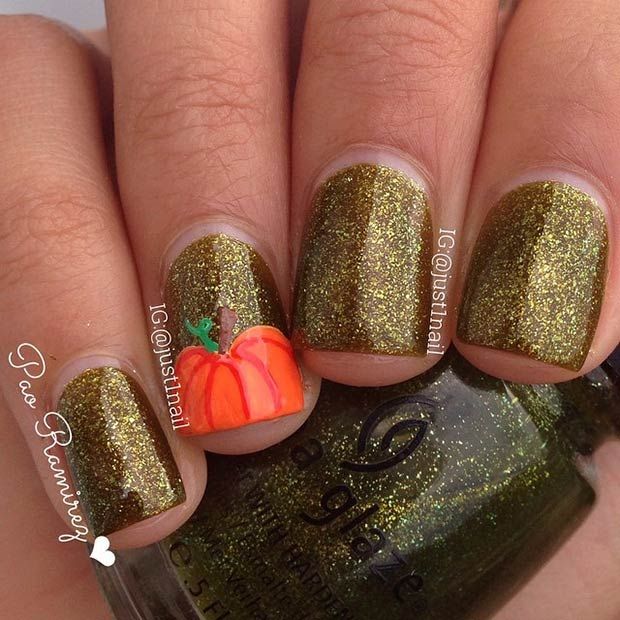6-pumpkin-accent-nail