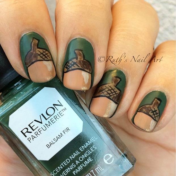 7-acorn-nail-design