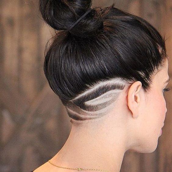 45 fantastici stili di capelli con rasatura per l'inverno ...
