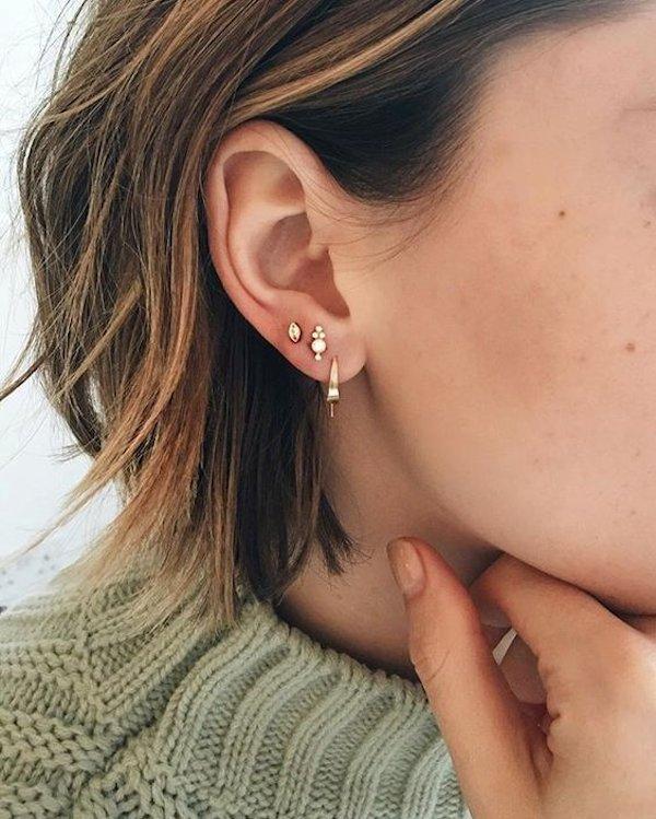 orecchio piercing cura