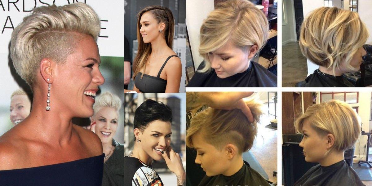 Ricrescita capelli rasati da un lato - Acconciature alla ...