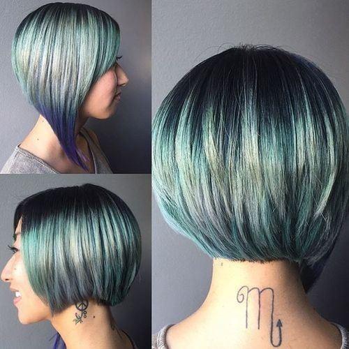 asymmetrical-short-bob-cut-ombre-balyage-highlight