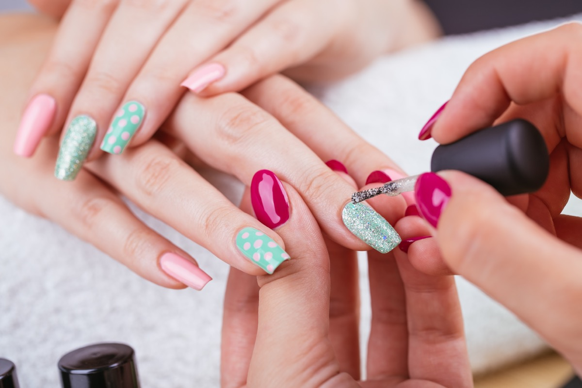Nail art gel facili