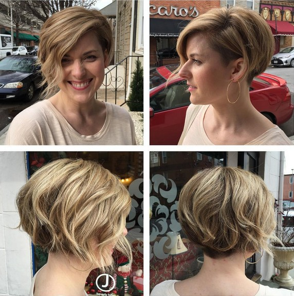 short,hairstyles,for,side,bangs,undercut,bob,balayage,hairstyles ,with,thick,hair