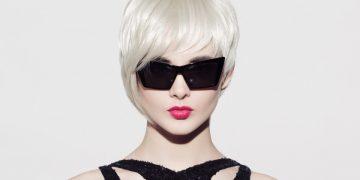 Taglio di capelli corti con ciuffo
