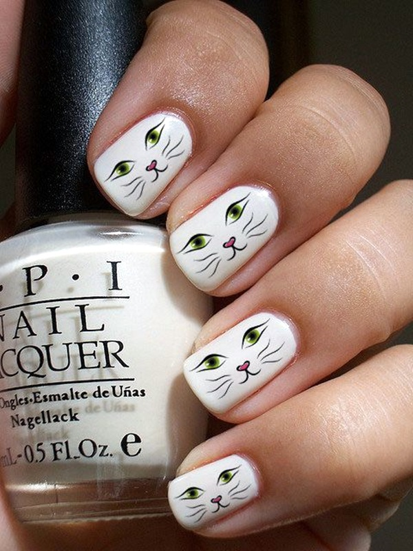 white-nails-art-designs-7