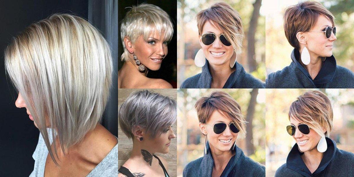 Tagli capelli corti con colpi di luce