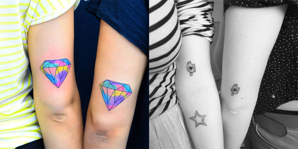 37 tatuaggi per le amiche perch farsene uno e quale for Disegni di due migliori amiche