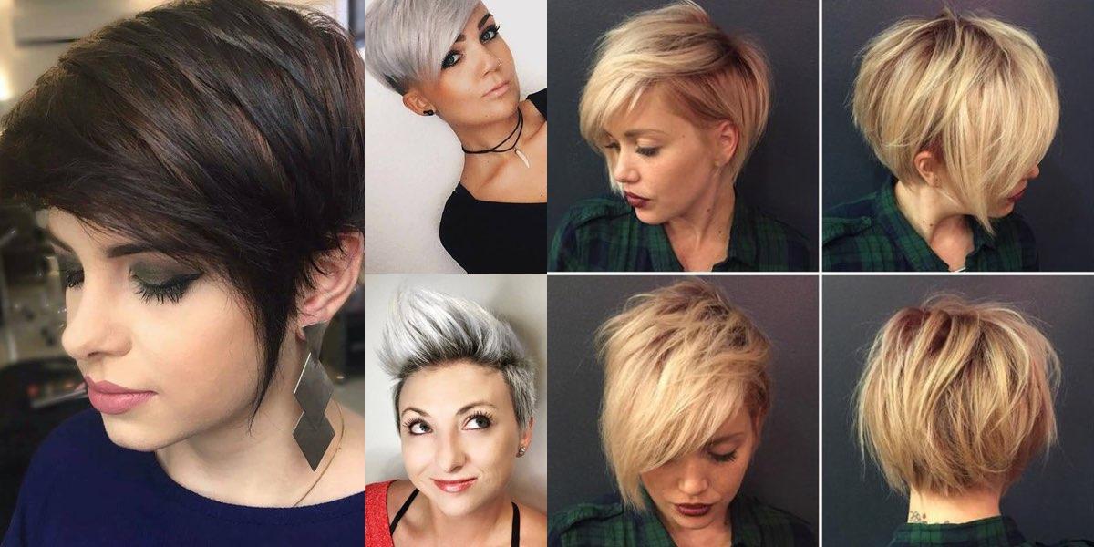 Tagli di capelli corti femminili per visi tondi
