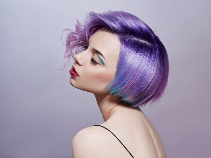 capelli ombre lavanda e viola