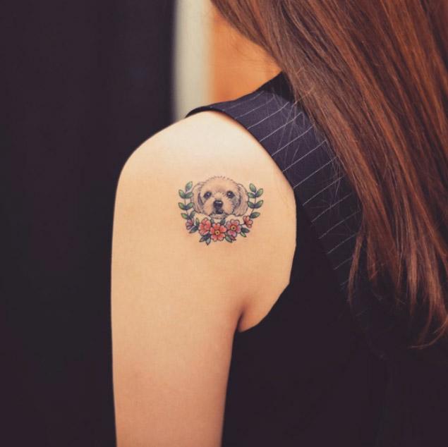 maltese-puppy-tattoo