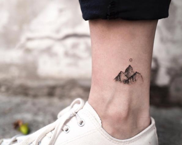 mountain-ankle-tattoo