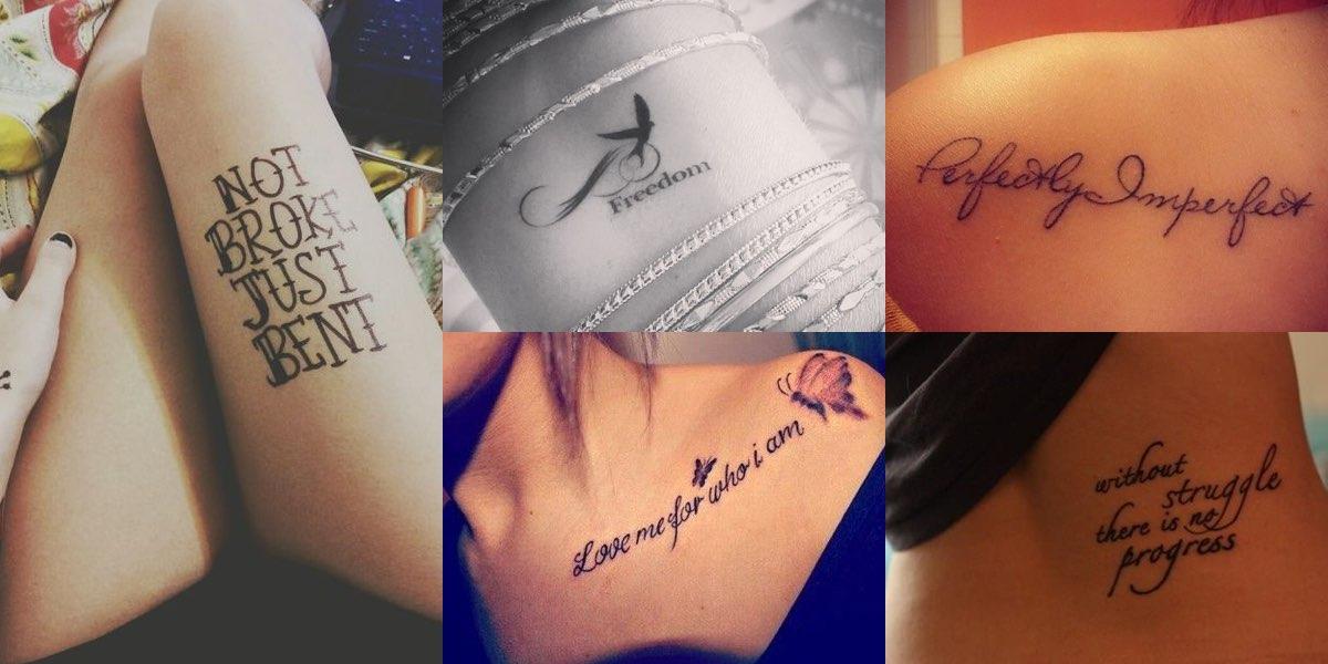 Favoloso 32 scritte per un nuovo tatuaggio ad effetto! WS08