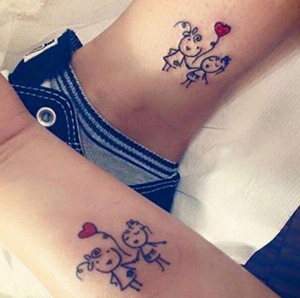 Eccezionale 50 tatuaggi per simboleggiare l'amore tra fratello e sorella  MM69