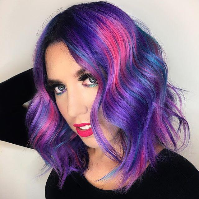 bicolore viola medi