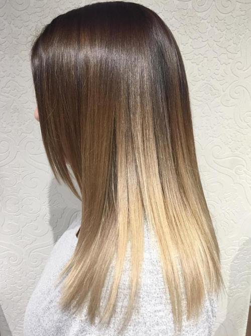 4 Brown Blonde Ombre Balayage For Straight Hair Capellistyle