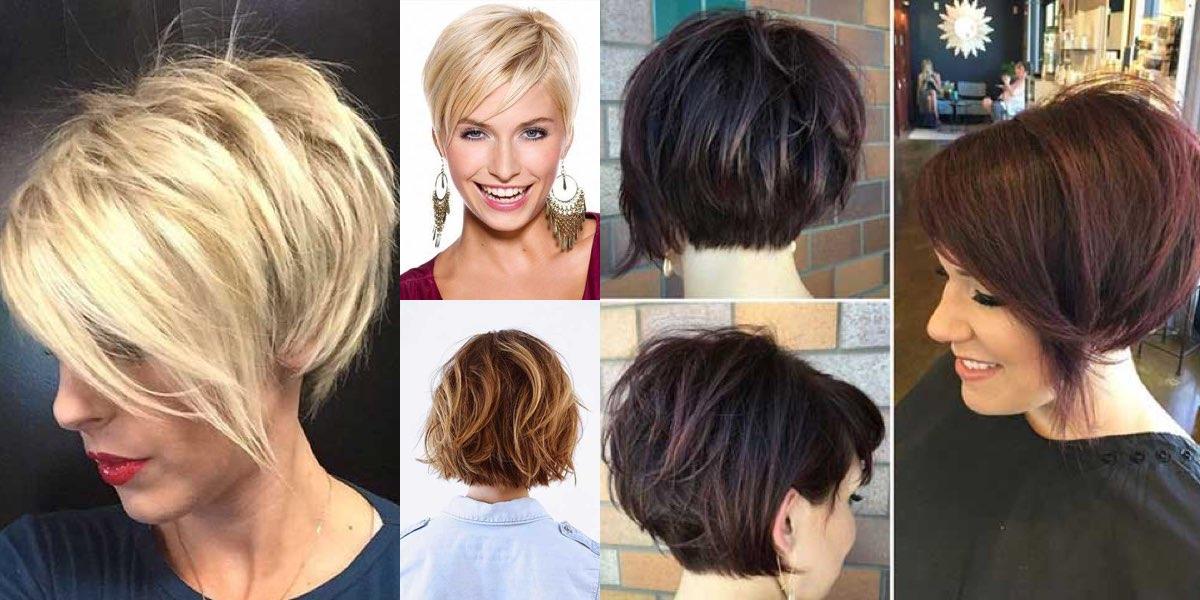 Taglio capelli corti lisci foto