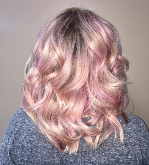 Lived In Rose Gold Balayage Hair Color Capellistyle It