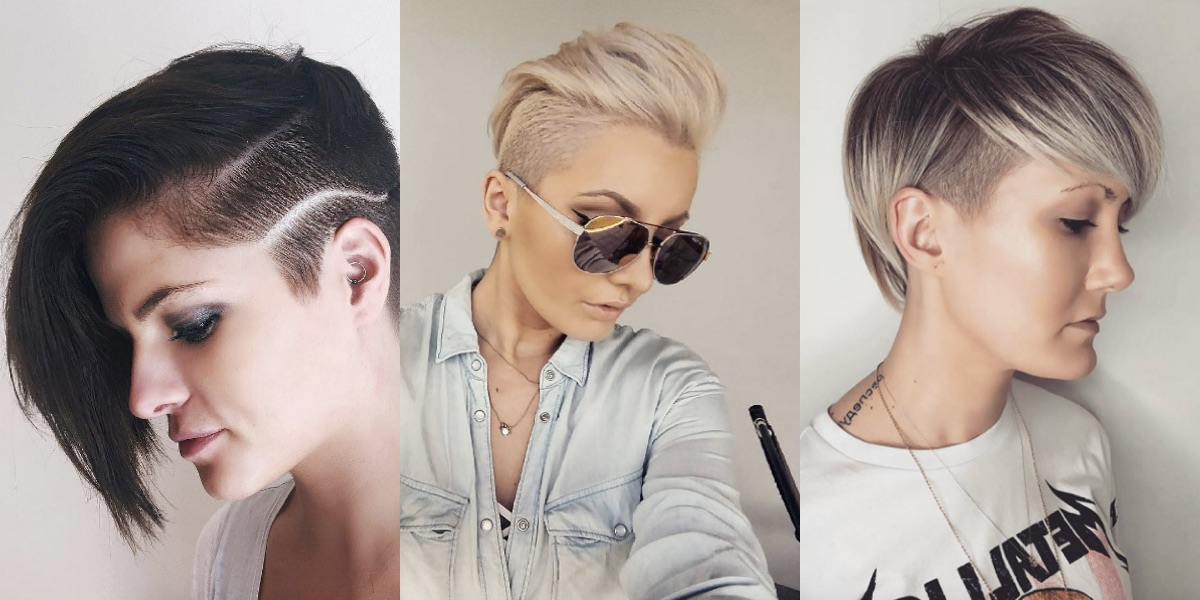 40 stili di capelli rasati su un lato per una fresca estate!