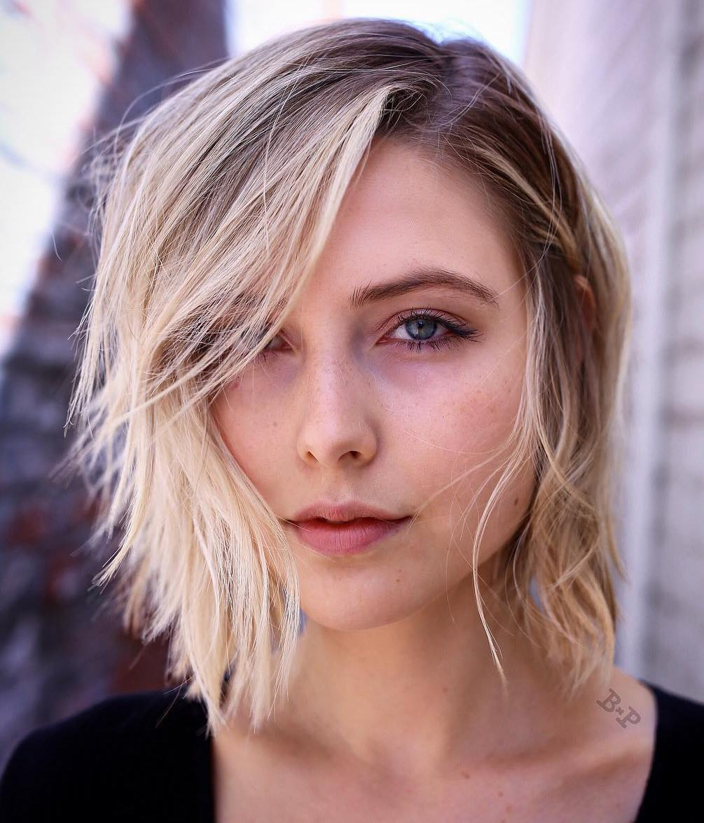 3 sideparted medium hairstyle for thin hair   CapelliStyle