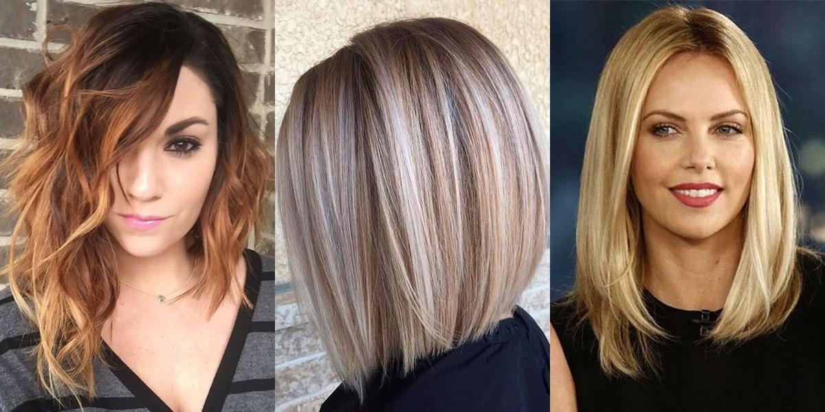 Foto tagli di capelli medio lunghi