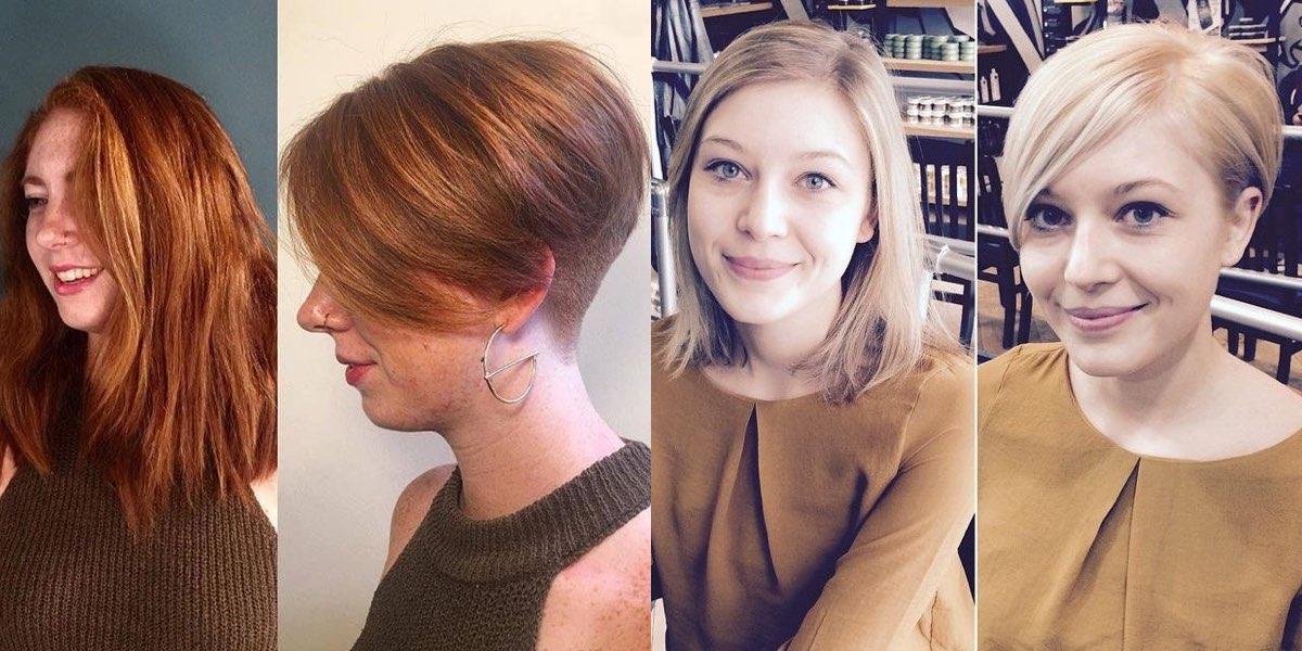 Prima e dopo un taglio di capelli